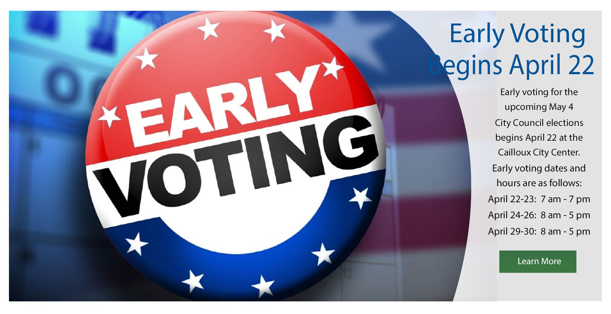 Early Voting - 2019 Opens in new window